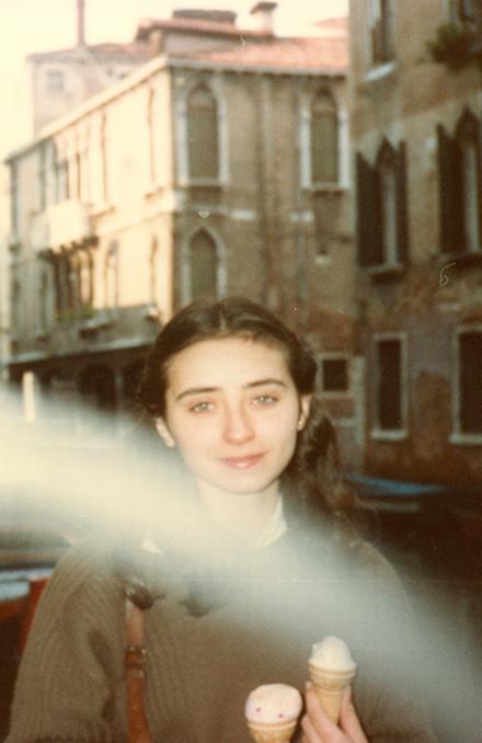 Sandra Sabattini a 21 anni a Venezia